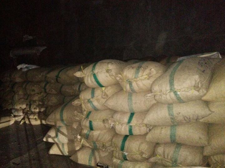 Raw cashew nut stock at Exporters Madagascar warehouse
